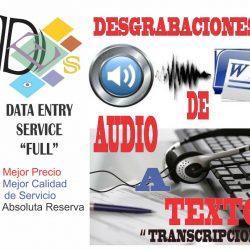 Desgrabación o Transcripción de audio- On- Line
