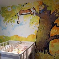 pintura decorativa en interiores de casas con niños
